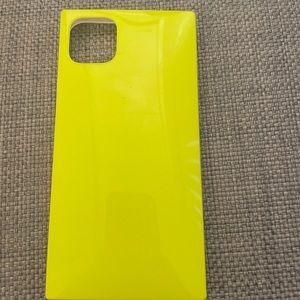 Neon yellow iPhone 11 Pro Max case